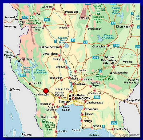 Kanchanaburi Thailand Map.Domaine Des Elephants Blancs Your Stay Map